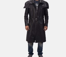 Male Leather Coat